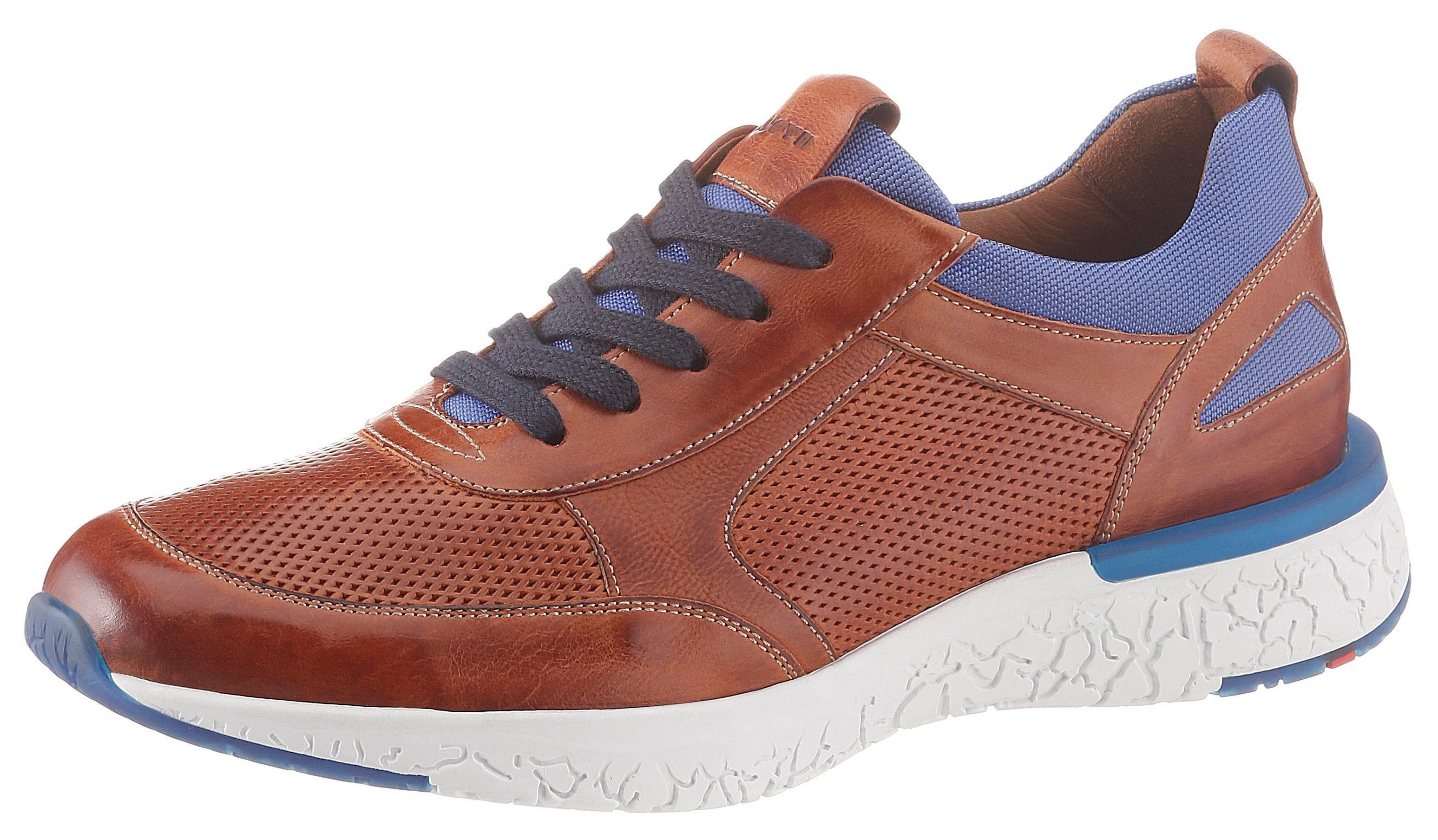 Lloyd »Babylon« Sneaker mit modischen Einsätzen blau, braun   04061693008052