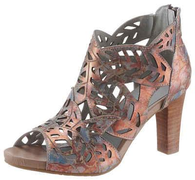 LAURA VITA »Alcbaneo« Sandalette mit schönem Metallic-Schimmer