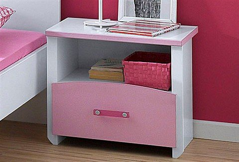Parisot Nachttisch »Biotiful« in weiß-rosa