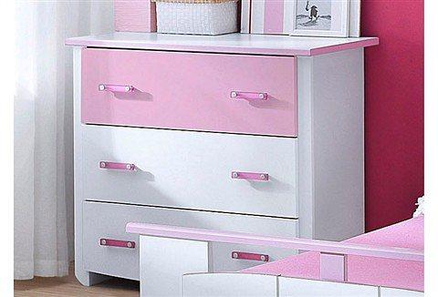 Parisot Kommode »Biotiful« in weiß-rosa