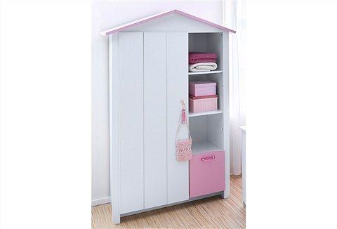 Parisot Kleiderschrank »Biotiful« in weiß-rosa