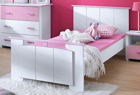 Parisot Bett »Biotiful«, Breite 103 cm in weiß-rosa