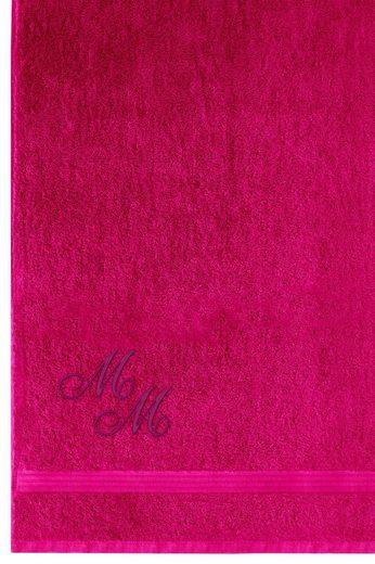 Saunatuch »Linz«, Lashuma, Wellness Handtuch Extra Groß, Badetuch 100x200 cm mit Monogramm bestickt