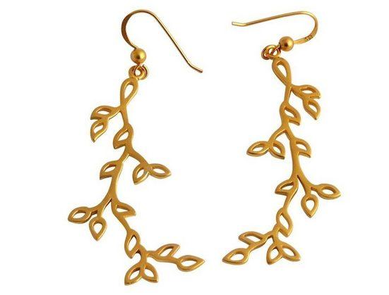 Gemshine Paar Ohrhänger »YOGA Lotusblumen Blüten Blätter«, Made in Spain