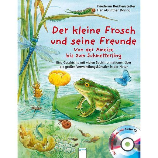 Arena Verlag Der kleine Frosch und seine Freunde, mit Audio-CD