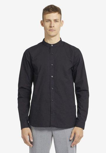 khujo Langarmhemd »WILDER« aus Baumwolle mit kurzem Stehkragen