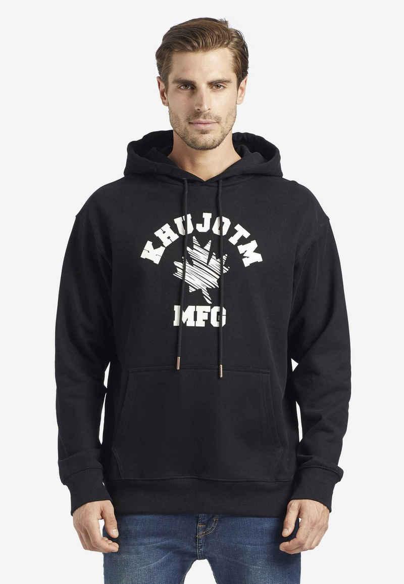 khujo Kapuzensweatshirt »BRICKS« aus weichem Feinstrick