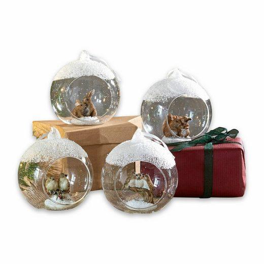 Mirabeau Weihnachtsschmuck 4er Set »Animals«