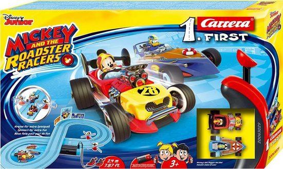 Carrera® Autorennbahn »Carrera® First - Mickey and the Roadster Racers« (Streckenlänge 2,4 Meter), (Set)