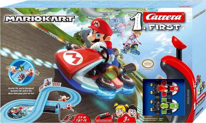 Carrera® Autorennbahn »Carrera® First - Mario Kart™« (Streckenlänge 2,4 Meter), (Set)