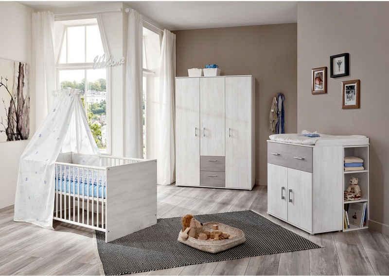arthur berndt Babyzimmer-Komplettset »Fredi«, (Set, 4-St), Made in Germany; mit Kinderbett, Regal, Schrank und Wickelkommode