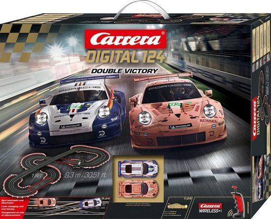 Carrera® Autorennbahn »Carrera® Digital 124 - Double Victory« (Streckenlänge 9,3 Meter), (Set)