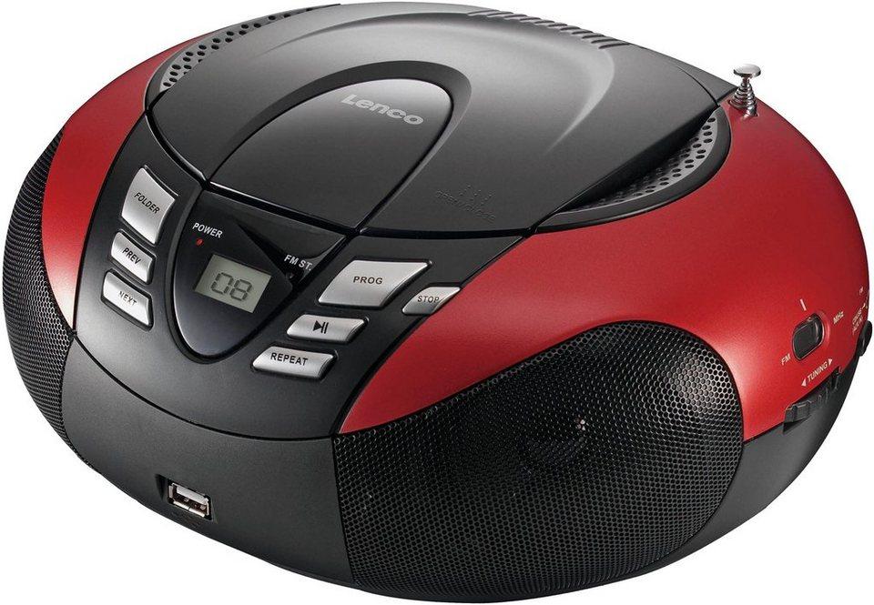 Lenco »SCD-37 Portables Radio mit CD Player/USB« UKW-Radio ...