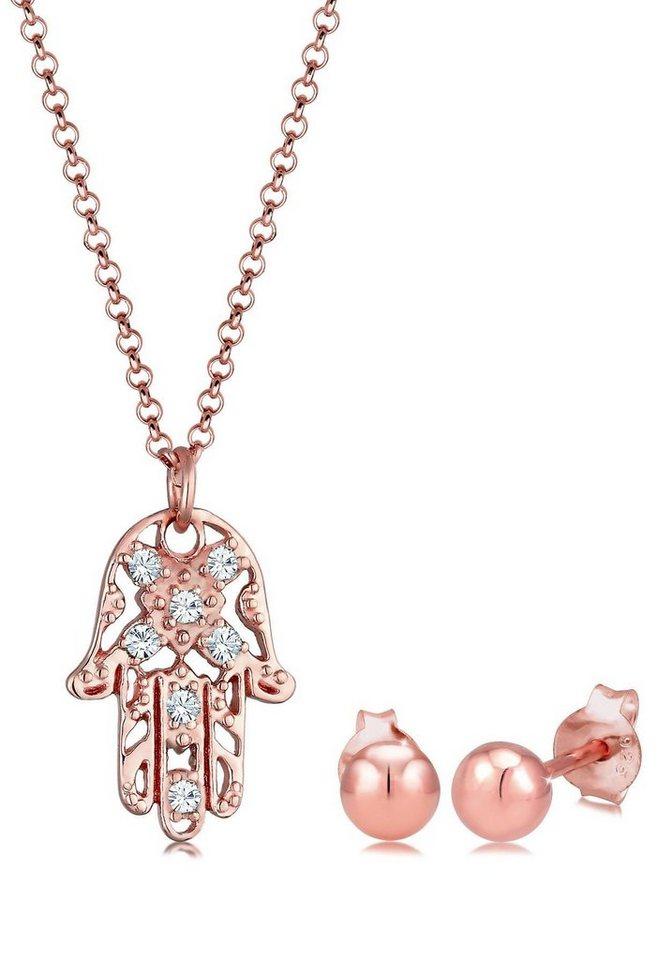 pedestal Alérgico Iluminar  Elli Schmuckset »Hand der Fatima, 908291219« (Set, 3-tlg), mit Swarovski®  Kristall online kaufen | OTTO