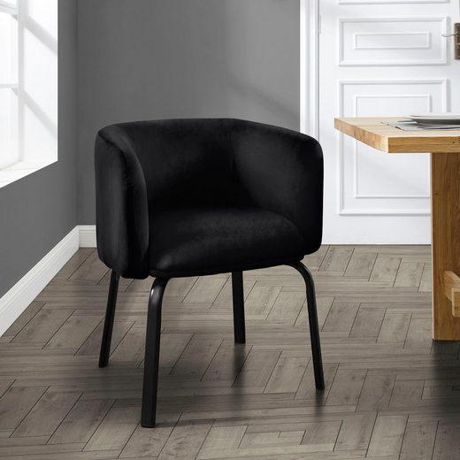 andas Esszimmerstuhl »Maribo« aus einem schönen, weichen Samtvelours Bezug, Design by Morten Georgsen, Sitzhöhe 35 cm