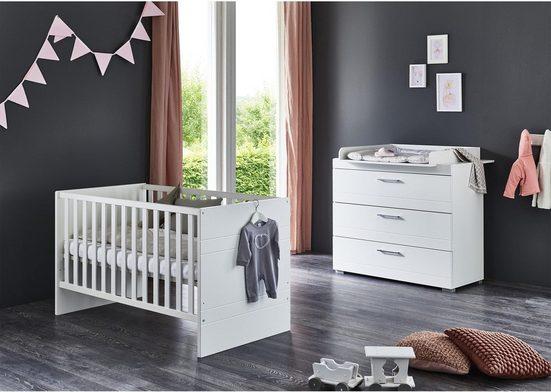 arthur berndt Babymöbel-Set »Liene«, (Spar-Set, 2-St), mit Kinderbett und Wickelkommode; Made in Germany