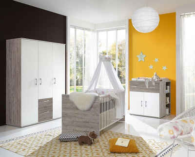 arthur berndt Babyzimmer-Komplettset »Franzi«, (Set, 4-St), Made in Germany; mit Kinderbett, Regal, Schrank und Wickelkommode