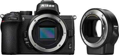 Nikon »Z50 Body + FTZ Objektivadapter« Systemkamera (20,9 MP, Bluetooth, WLAN (Wi-Fi)