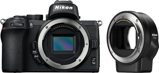Nikon »Z50 Body + FTZ Objektivadapter« Systemkamera (20,9 MP, Bluetooth, WLAN (Wi-Fi)