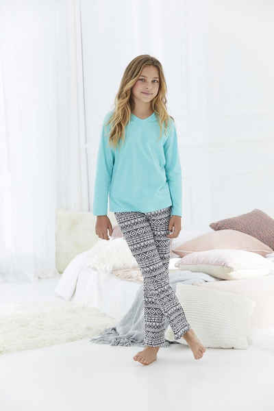 Buffalo Pyjama (Set, 2 tlg) mit cool bedruckter Hose