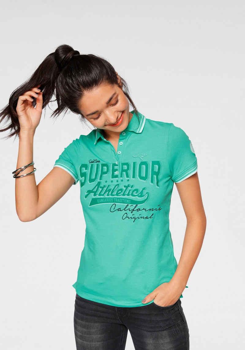 KangaROOS Poloshirt mit großem Frontdruck