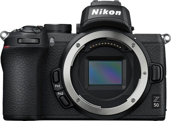 Nikon »Z50 DX 16-50mm 1:3.5-6.3 VR + FTZ Objektivadapter« Systemkamera (DX 16-50mm 1:3.5-6.3 VR, 20,9 MP, WLAN (Wi-Fi), Bluetooth)