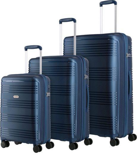 travelite Trolleyset »Zenit, blau«, 4 Rollen, (3 tlg)