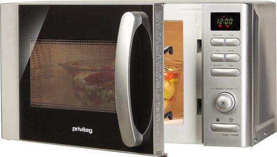 Privileg Mikrowelle 22875556, Grill, 17 l, mit 9 Automatikprogrammen