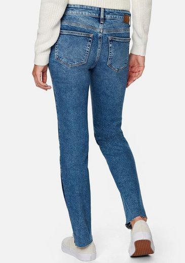 Mavi Straight-Jeans »DARIA« mit seitlichen dunklen Streifen