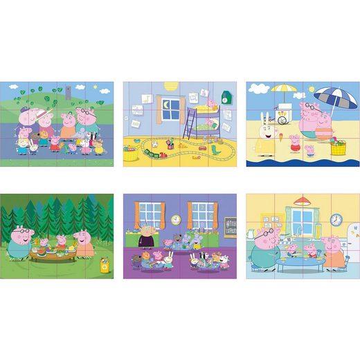 SIMBA Peppa Pig Würfelpuzzle, 12 Teile