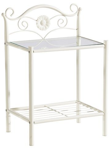 heine home Metall-Nachttisch im romantischen Stil | Schlafzimmer > Nachttische | Weiß | Metall | heine home