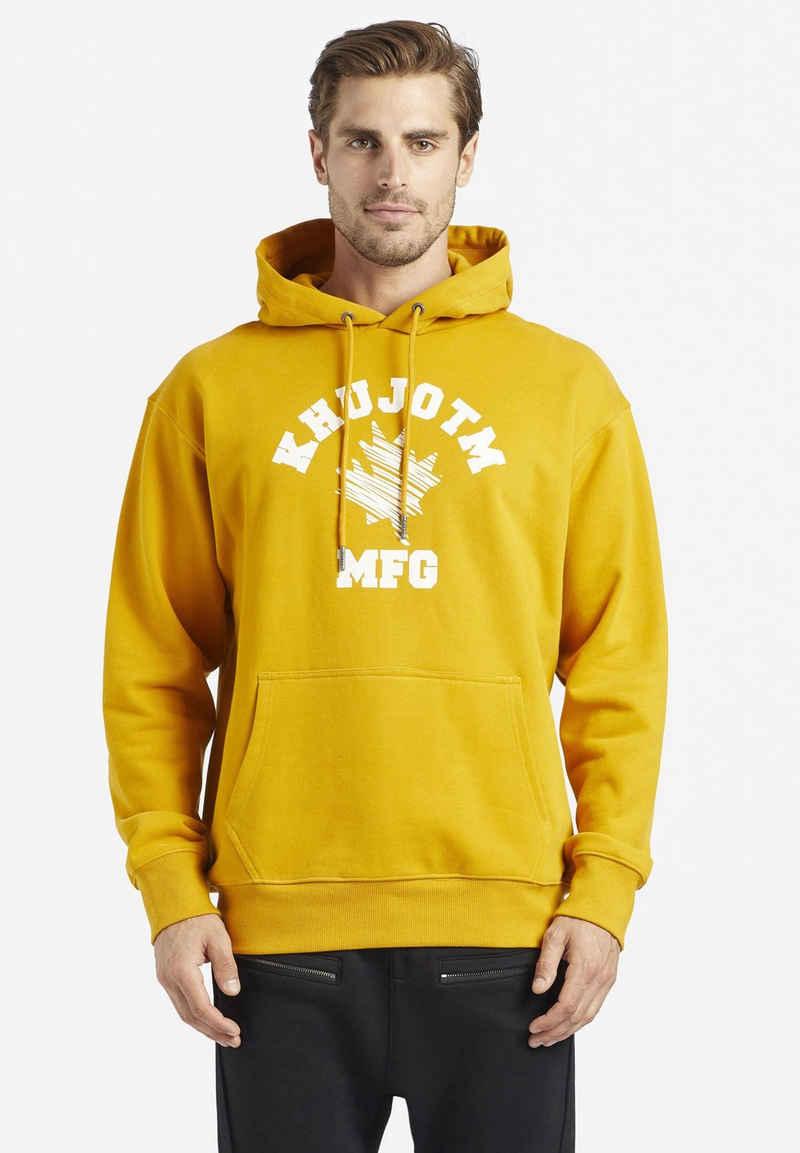 khujo Kapuzensweatshirt »BRICKS« aus Rippstrick mit Reißverschluss