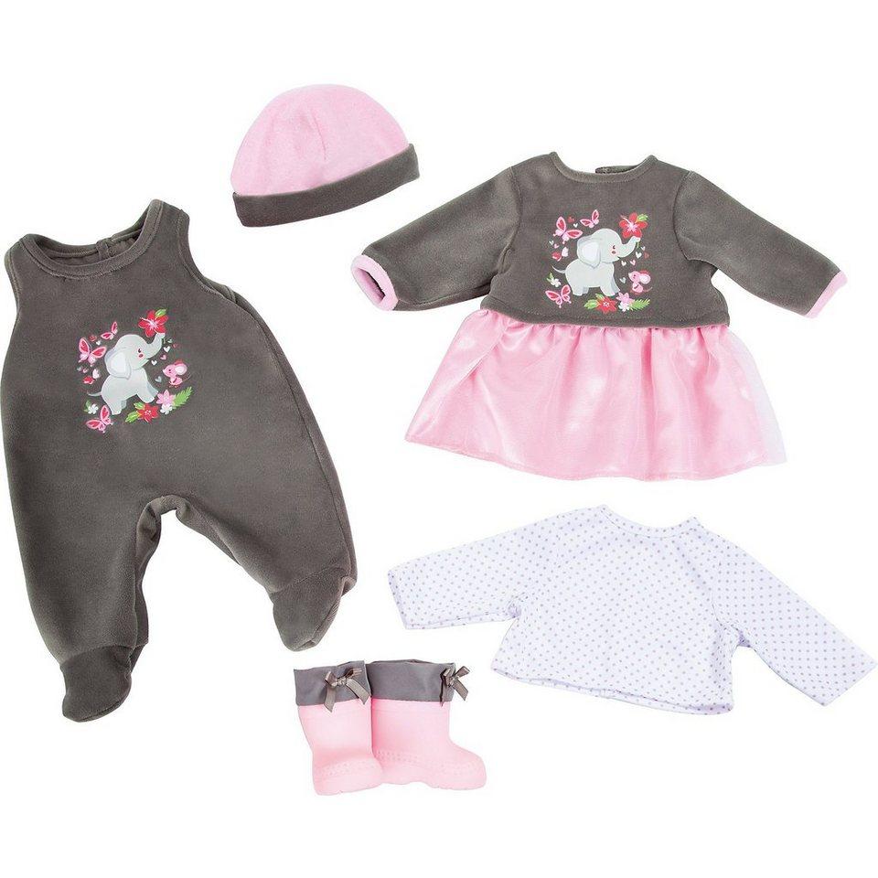 mytoys collection puppenkleidung set elefant rosa grau 5. Black Bedroom Furniture Sets. Home Design Ideas