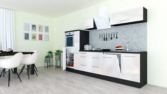 RESPEKTA Küchenzeile mit E-Geräten »RP310«, Breite 310 cm