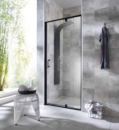 WELLTIME Nischentür »Piha«, Duschtür schwarz, BxH: 90 x 195 cm