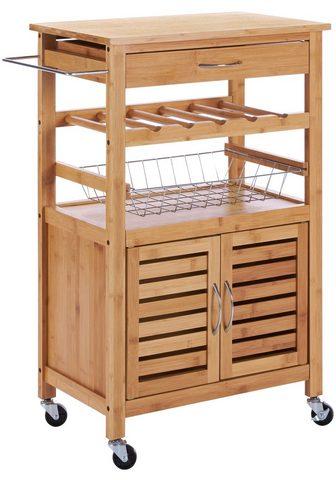 Virtuvinis vežimėlis »Bambus« 62 x 36 ...