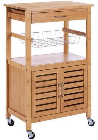 Virtuvinis vežimėlis »Bambus« 56 x 36 ...
