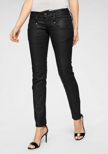 Herrlicher Slim-fit-Jeans »PITCH SLIM« in Leder-Optik