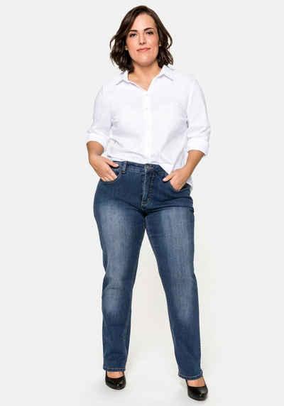 Sheego Stretch-Jeans Bauch-weg-Effekt