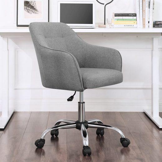 SONGMICS Drehstuhl »OBG019G01« Bürostuhl, Schreibtischstuhl, Computerstuhl, grau