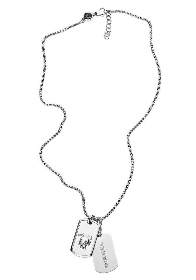 Diesel Kette mit Anhänger »MOHICAN - DOUBLE DOGTAGS, DX1210040« (Set, 3-tlg)