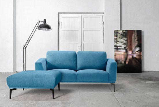Places of Style 2-Sitzer »Odda«, 2-Sitzer mit Metallfüßen in besonderem Design