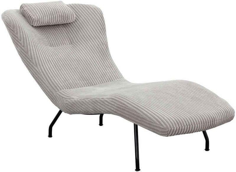 SalesFever Relaxsessel, mit modernem Cord Bezug, gemütliche Relaxliege