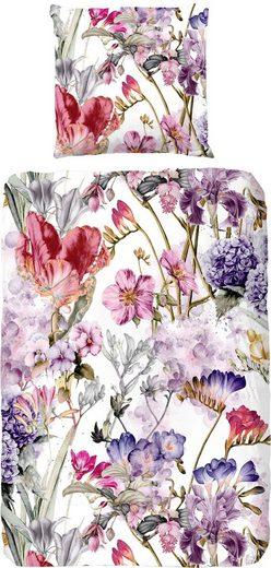 Bettwäsche »Janneke«, good morning, mit Blumen bedruckt