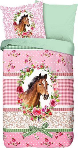 Kinderbettwäsche »You«, good morning, mit Pferd