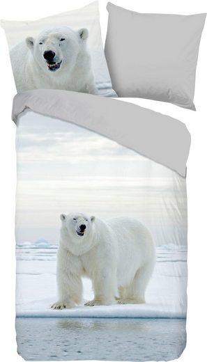 Wendebettwäsche »Thijs«, good morning, mit Eisbär