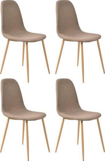 SalesFever Esszimmerstuhl in skandinavischem Design, im 4er_Set