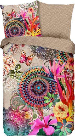 Wendebettwäsche »Maelli«, hip, mit Mandalas und exotischen Blüten