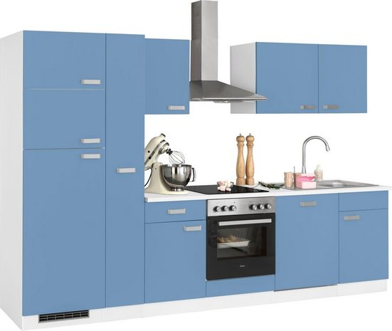 wiho Küchen Küchenzeile »Husum«, mit E-Geräten, Breite 310 cm