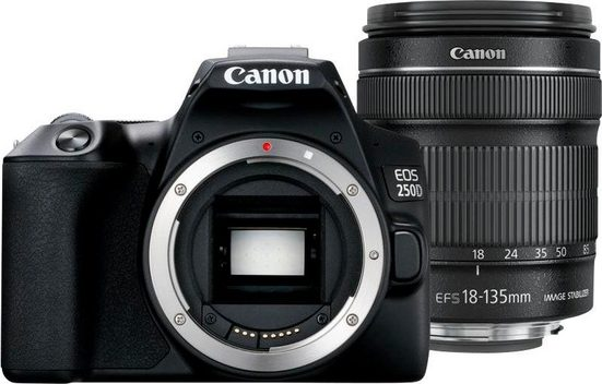 Canon »EOS 250D EF-S 18-135mm f3.5-5.6 IS STM« Kompaktkamera (EF-S 18-135mm f3.5-5.6 IS STM, 24,1 MP, Bluetooth, WLAN (Wi-Fi)